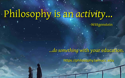 Philosophy is an activity.