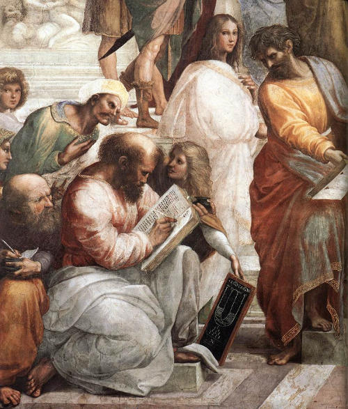 Raphael, The School of Athens, Pythagoras Detail, 1509