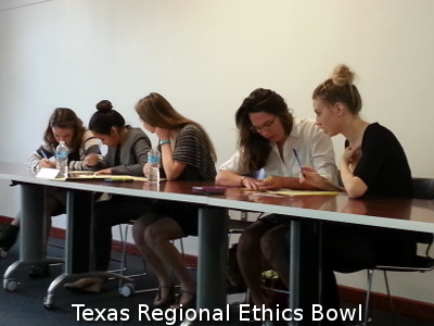 2015 Texas Regional Ethics Bowl Team