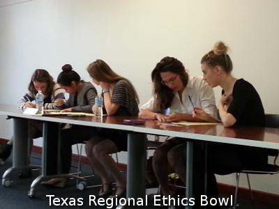 2015 Texas Regional Ethics Bowl Team